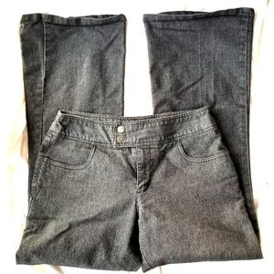 Xhilaration Dark Grey/Black Denim Jeans Size 7